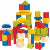 Woody Stavebnice kostky barevné 50 dílů