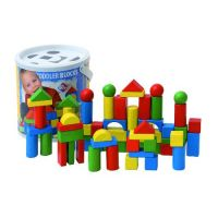 Woody Stavebnice kostky v kyblíku 60ks