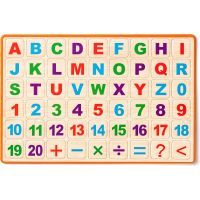Woody Magnetická tabuľka s ABC na stôl 3