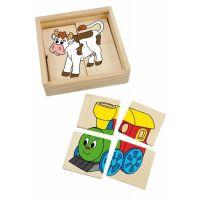 Woody Minipuzzle Mašinka v dřevěné krabičce