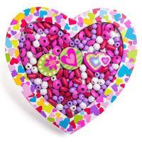 Woody Navlékací korálky Srdce