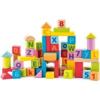 Woody Pastelové kostky s písmeny a číslicemi