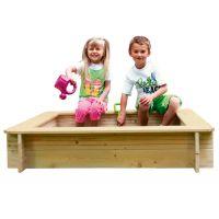 Woody Pískoviště dřevěné s plachtou čtverec