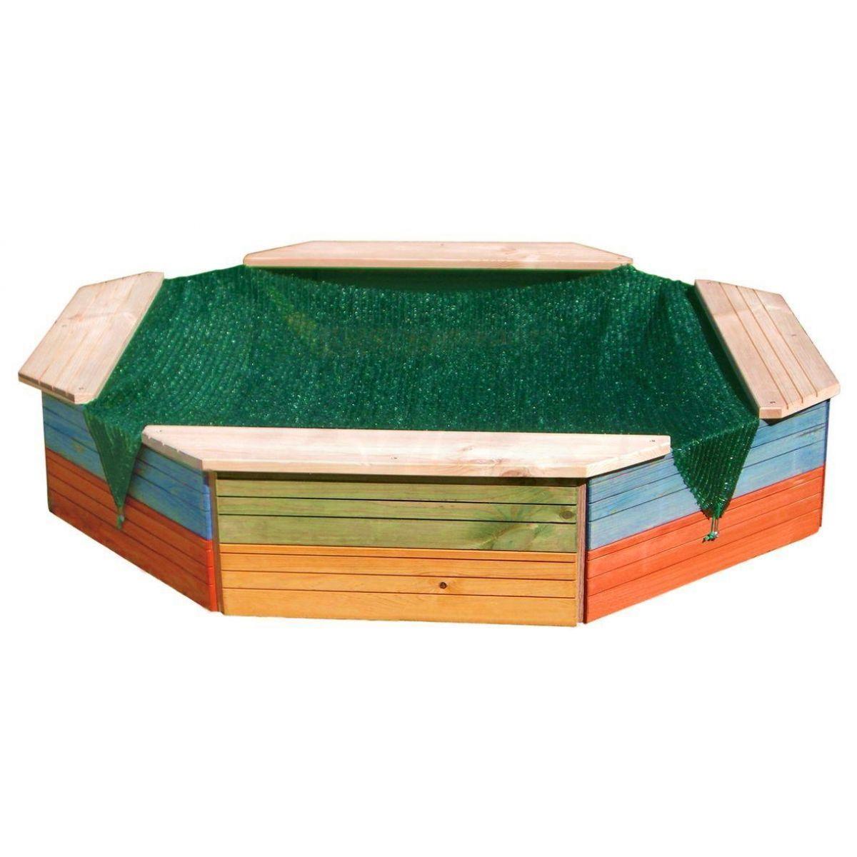 Woody Pískoviště dřevěné barevné 8mi hranné
