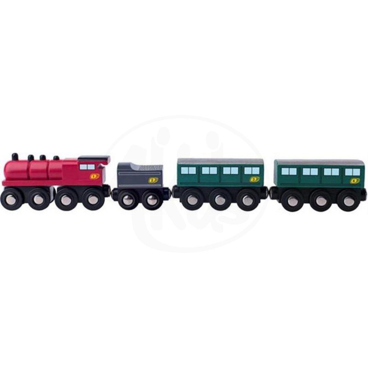 Woody Příslušenství k vláčkodráze Parní lokomotiva s uhlím a osobními vagony