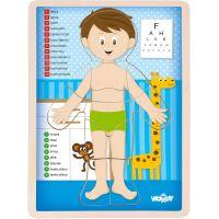 Woody Puzzle Lidské tělo Kluk CZ