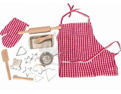 Woody 91125  - Pečící kuchyňská sada s tvořítky a zástěrou