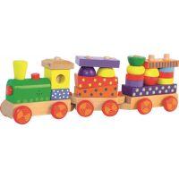 Woody Skládací vlak s potiskem a vagony