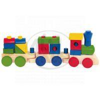 Woody 90827 - Skládací nákladní vlak - dva vagony