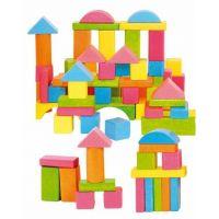 Woody Stavebnice kostky barevné - pastelové 75 ks 2