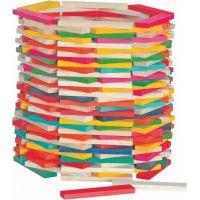 Woody Stavebnice přírodní - barevná Simona 200 ks
