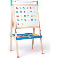 Woody Tabuľa ABC s písmenami s rolou papiera a téglikmi