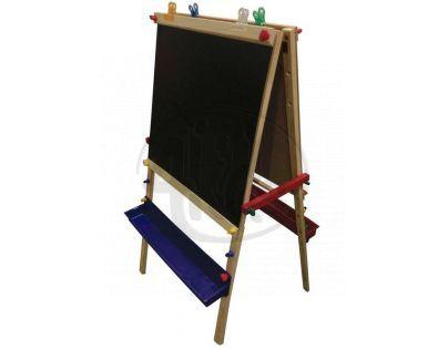 WOODY 91164 - Oboustranná školní tabule BLACK & WHITE