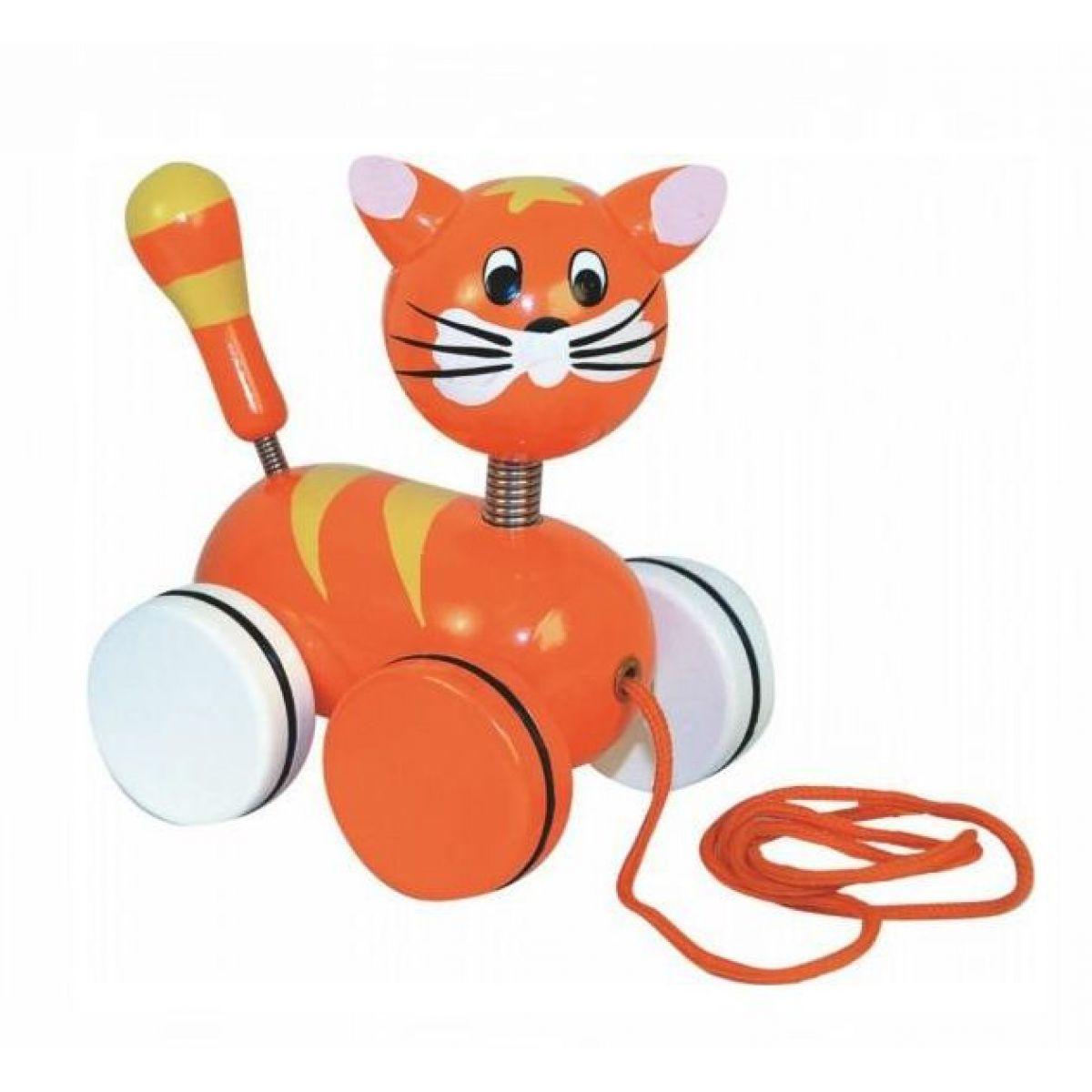 Woody 93029 Tahací kočka na kolečkách
