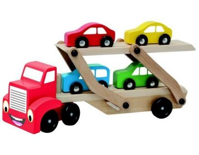Woody Tahač s návěsem pro přepravu aut