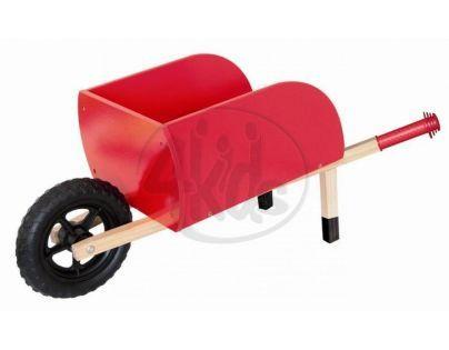 Woody 90896 - Zahradní kolečko dřevěné, červené