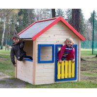 Woody Zahradní domeček s barevným lemovaním 2
