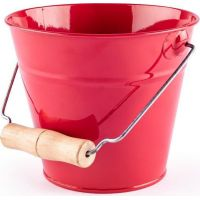 Woody Dětský kovový Zahradní kyblík červený