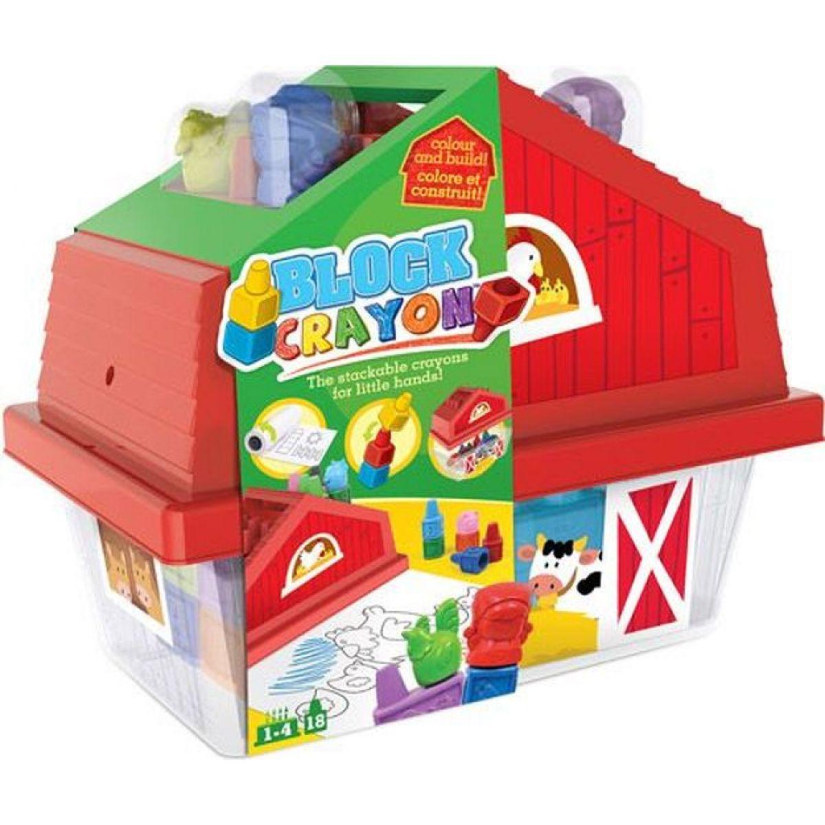 Wooky Block Crayon Domeček 18 ks pastelek