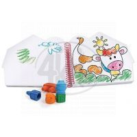 Wooky Block Crayon Omalovánky farma 5ks pastelek 2