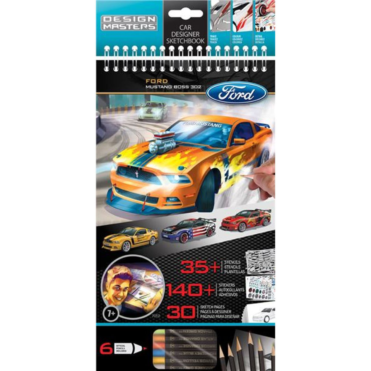 Wooky Ford Mustang portfolio + pastelky