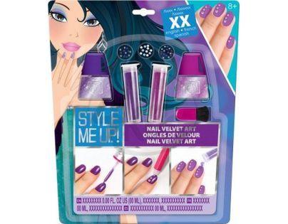 Wooky Style Me Up Perfektní sametové nehty fialové