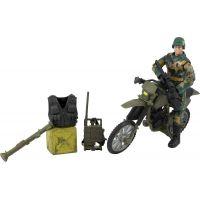 World Peacekeepers Figurka vojáka s doplňky - Voják na motorce