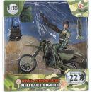 World Peacekeepers Figurka vojáka s doplňky - Voják na motorce 2