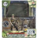World Peacekeepers Figurka vojáka s doplňky - Voják u ohně 2