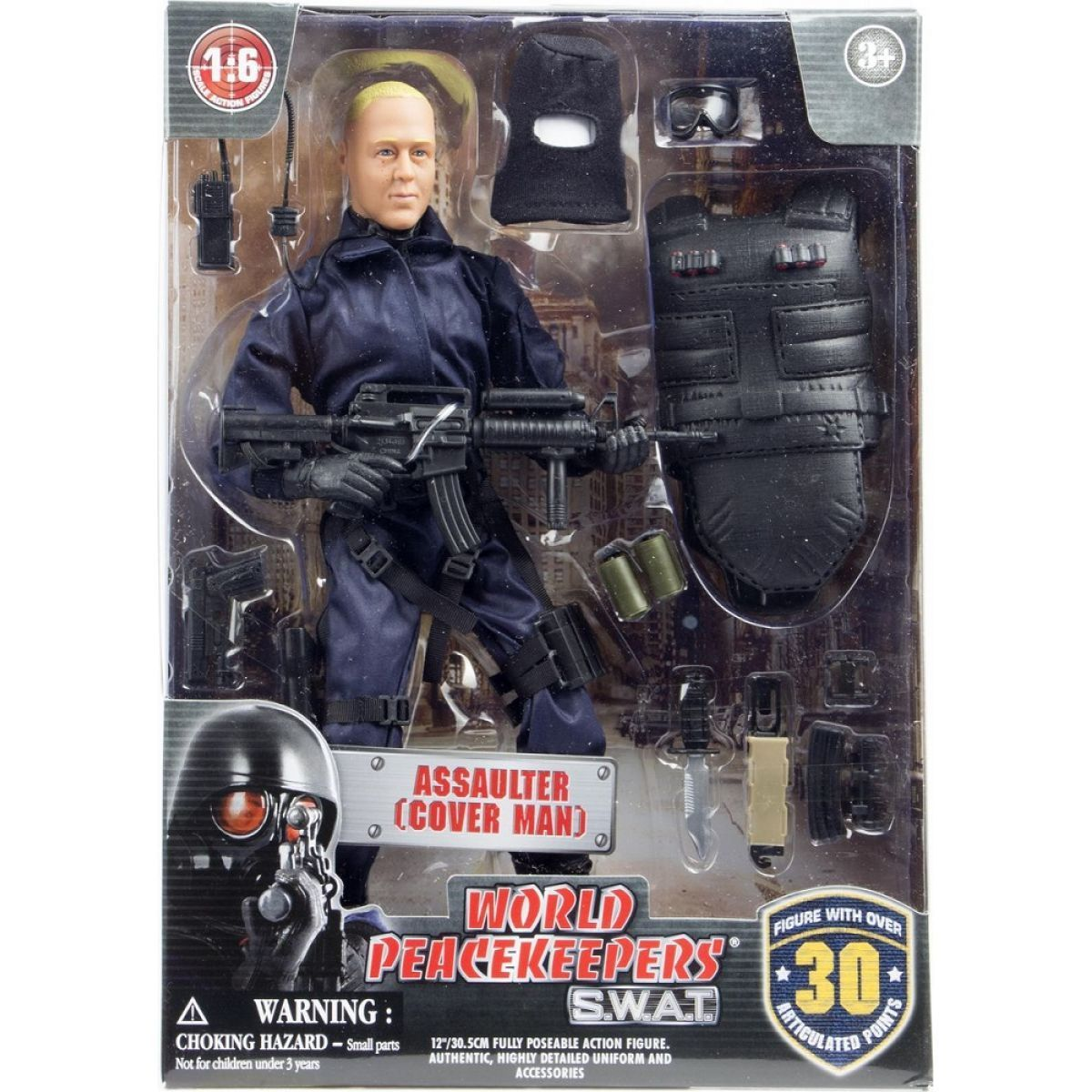 World Peacekeepers S.W.A.T. figurka 305 cm - Assaulter Cover Man