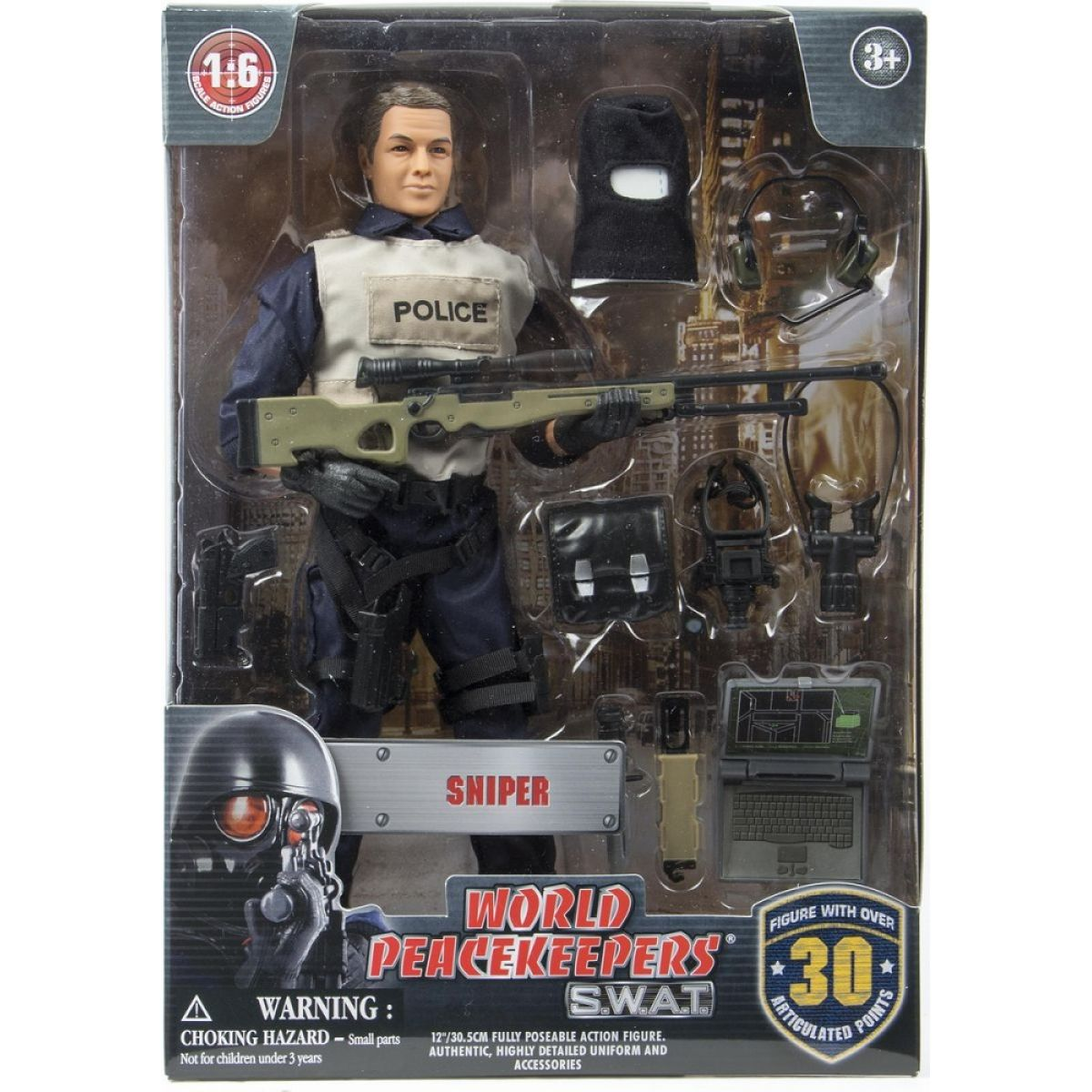 World Peacekeepers S.W.A.T. figurka 305 cm - Sniper