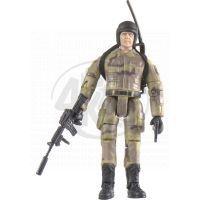 World Peacekeepers Voják figurka 9,5cm - Vysílačka, samopal a pistole