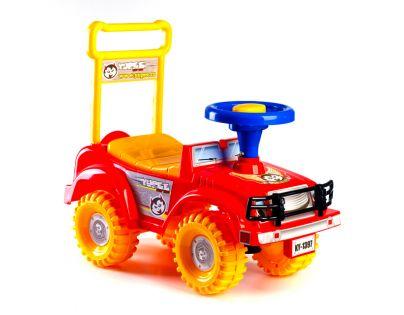 Teddies 00313965 - Odrážedlo auto Jeep Yupee - červené