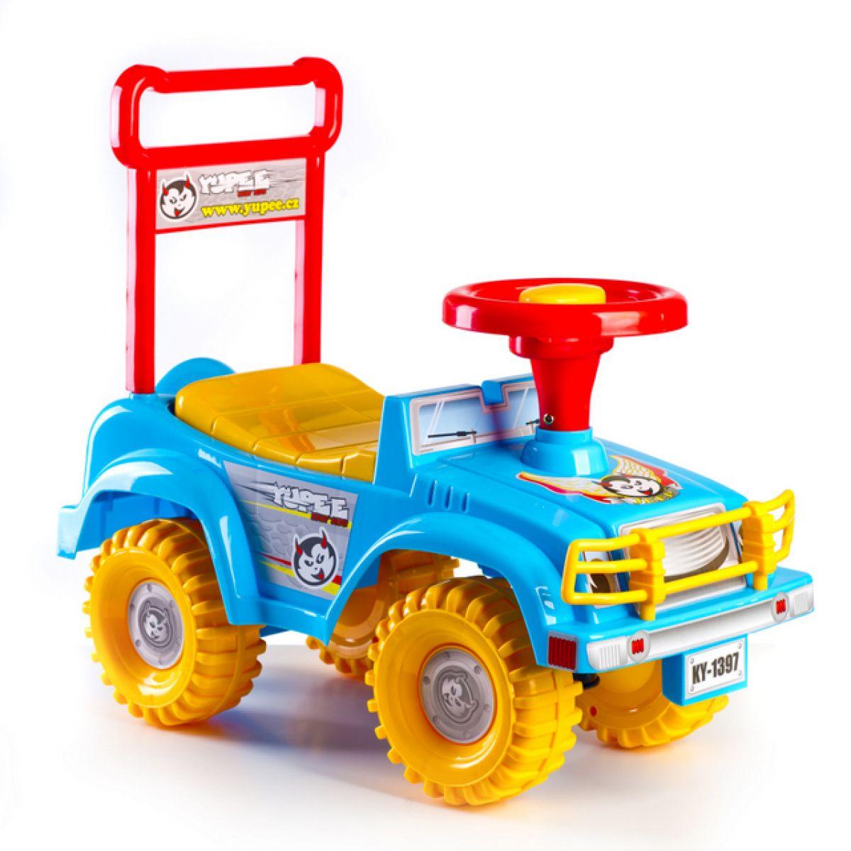 Teddies auto Jeep modré