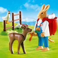 Zajíc s batohem Playmobil