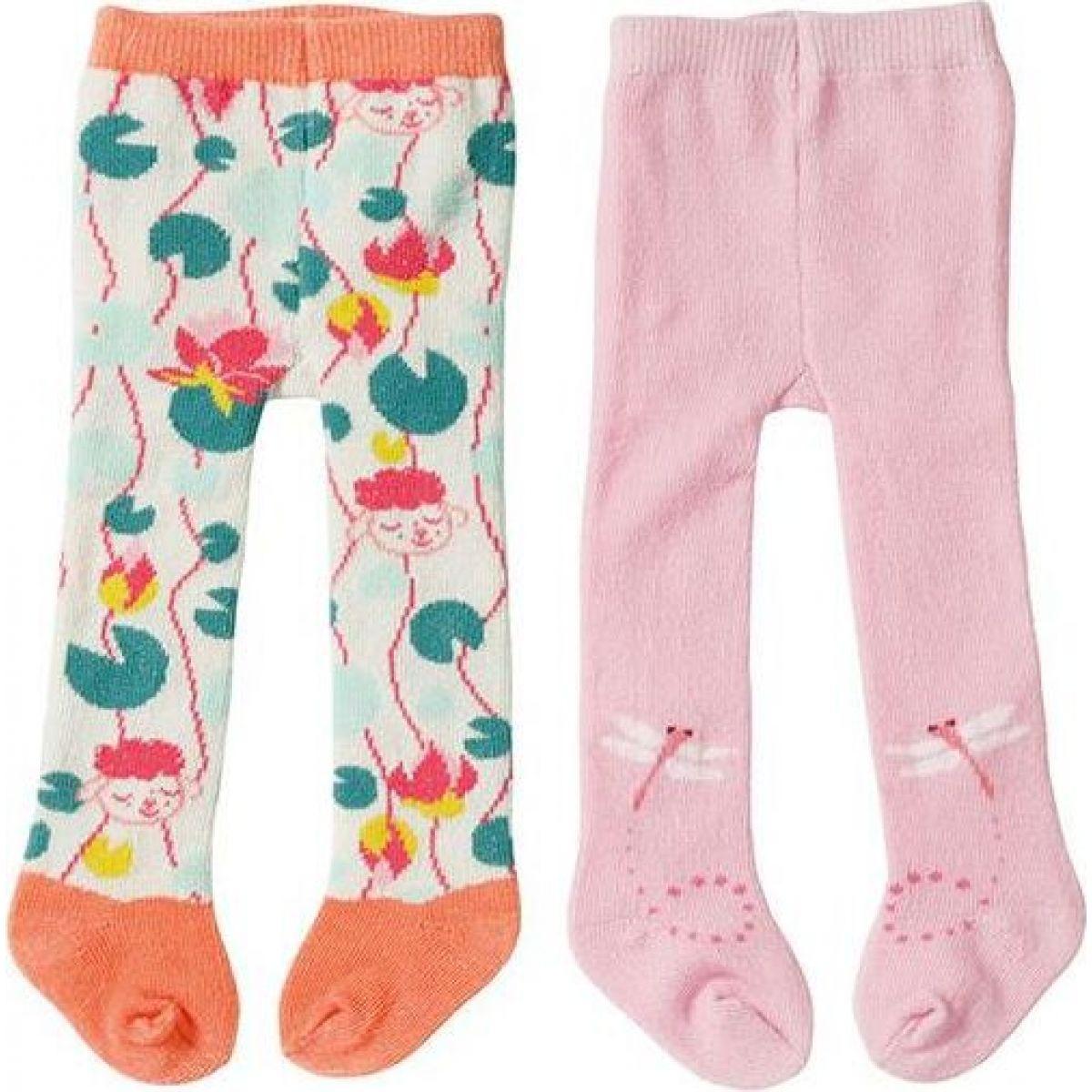 Levně Zapf Creation Baby Annabell® Punčocháče 2ks 43 cm růžové a oranžové s ovečkou