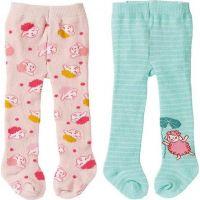 Zapf Creation Baby Annabell® Punčocháče 2ks 43 cm zelené a růžové s ovečkou