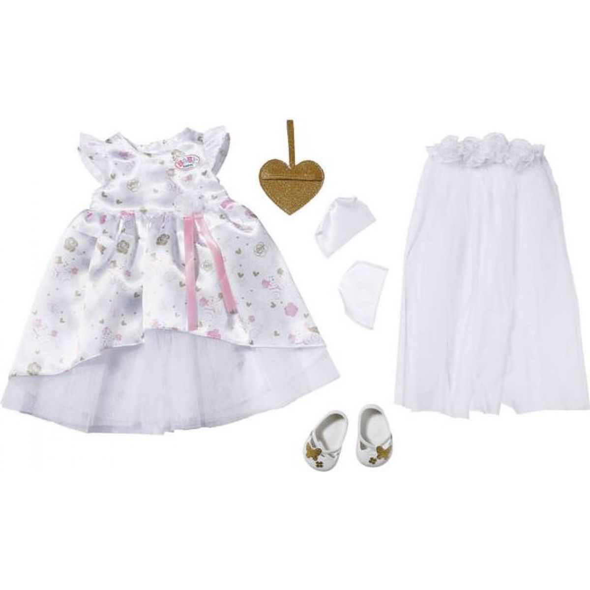 Zapf Creation BABY born Boutique Deluxe Bride 43cm