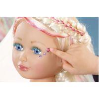 Zapf Creation Baby Born Česací hlava s barevnými křídami Starší sestřička 2