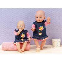 Zapf Creation Dolly Moda Džínové šatičky 30 cm 2