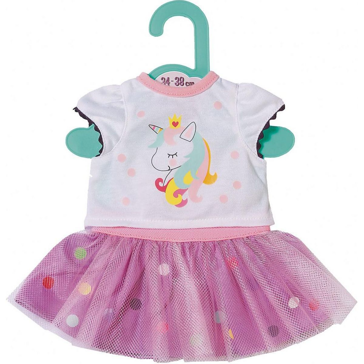 Zapf Creation Dolly Moda Tričko s tutu sukýnkou 36 cm
