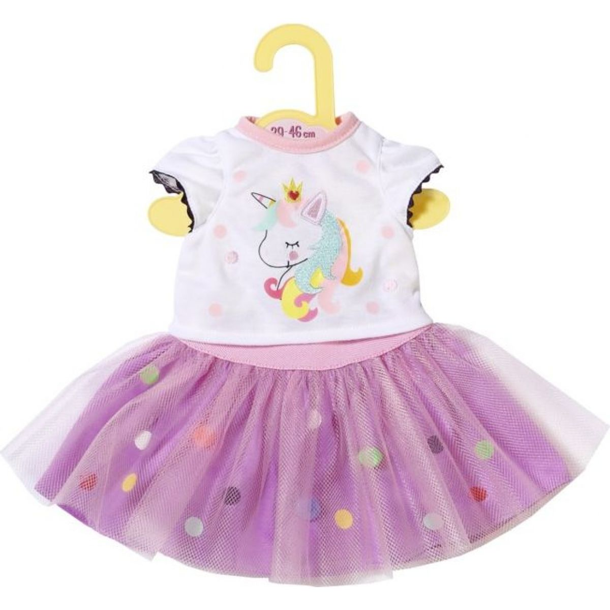 Zapf Creation Dolly Moda Tričko s tutu sukýnkou 43cm