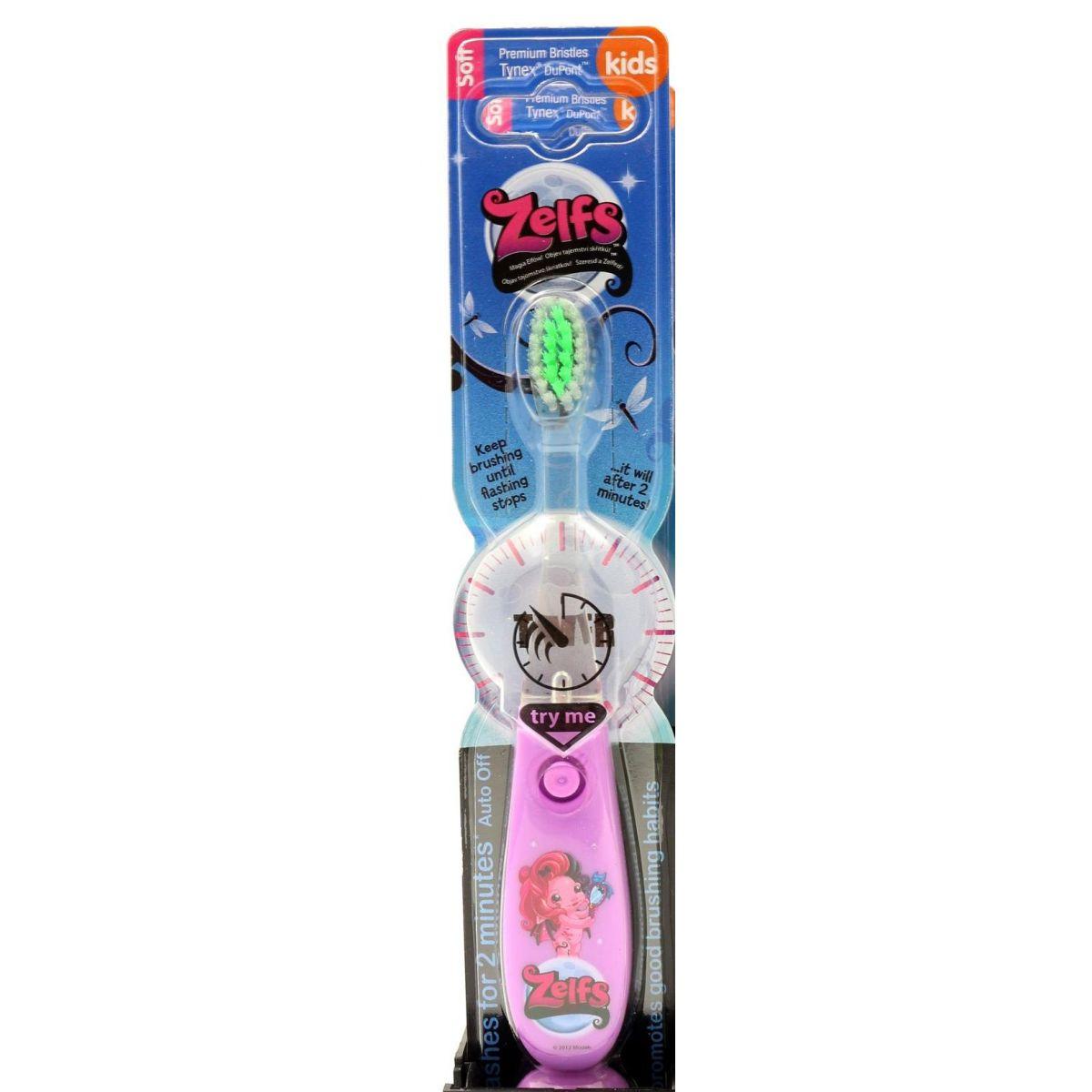 Zelfs blikající zubní kartáček fialový