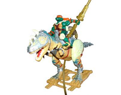 Želvy Ninja TMNT Super Dino 30 cm + figurka - Allosaurus