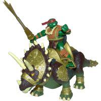 Želvy Ninja TMNT Super Dino 30 cm + figurka - Triceratops
