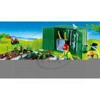 Záhony s kůlnou Playmobil