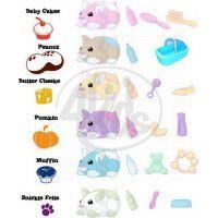 ZhuZhu Pets 86693 - Křeččí miminko Butter Cheeks 2