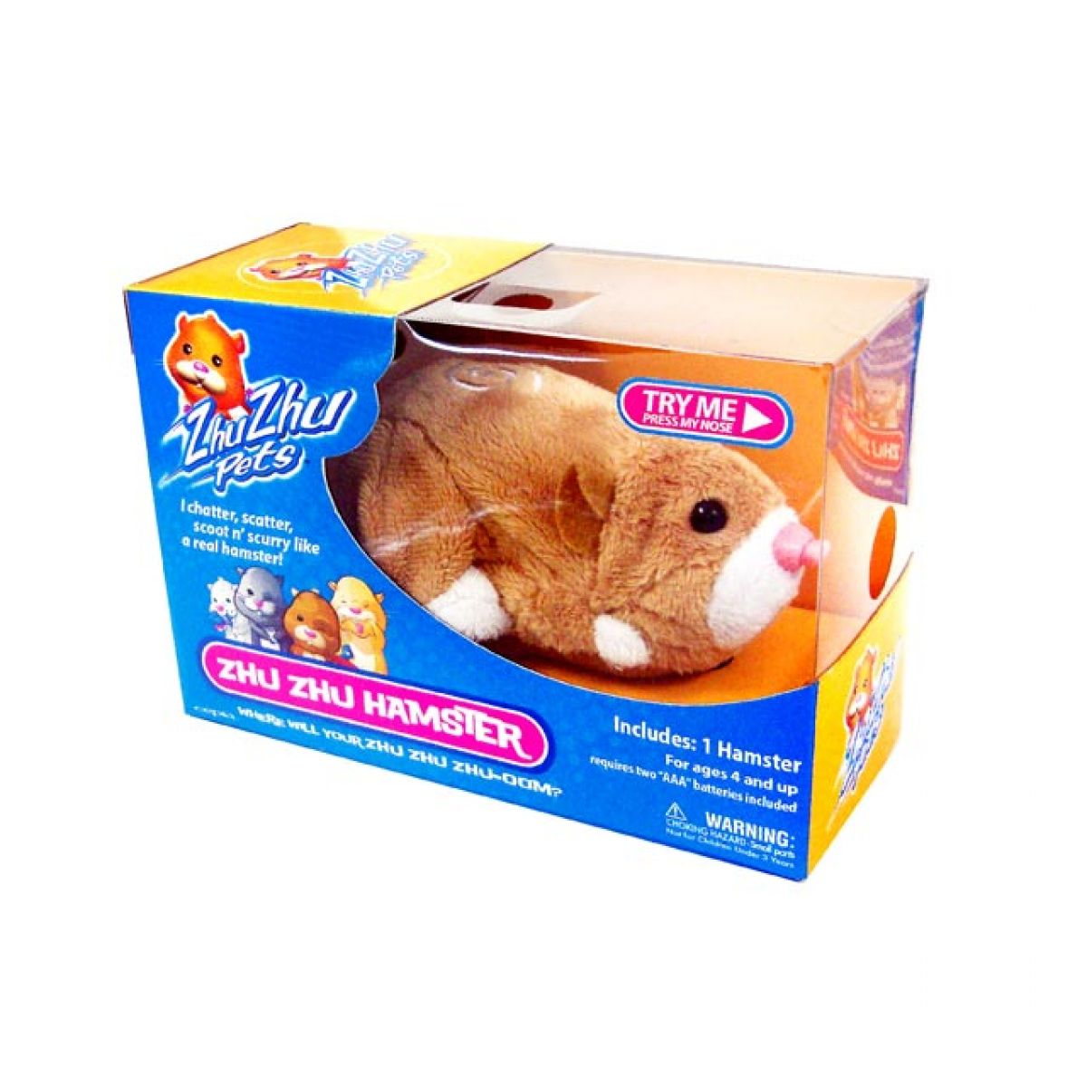 ZhuZhu Pets 86651 - Křeček MR. Squiggles - hnědý