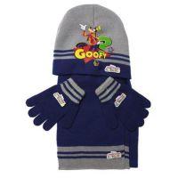 Licenceonly Zimní dětská souprava šedomodrá Goofy