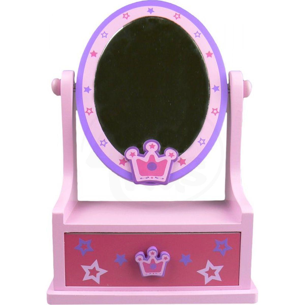 Zrcadlo d ev n ov l se z suvkou korunka hv zdy 4kids for Miroir princesse